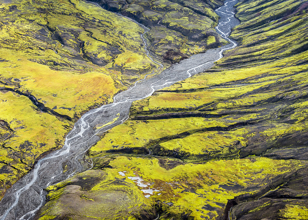River Patterns, Markarfljot, Iceland, 2012