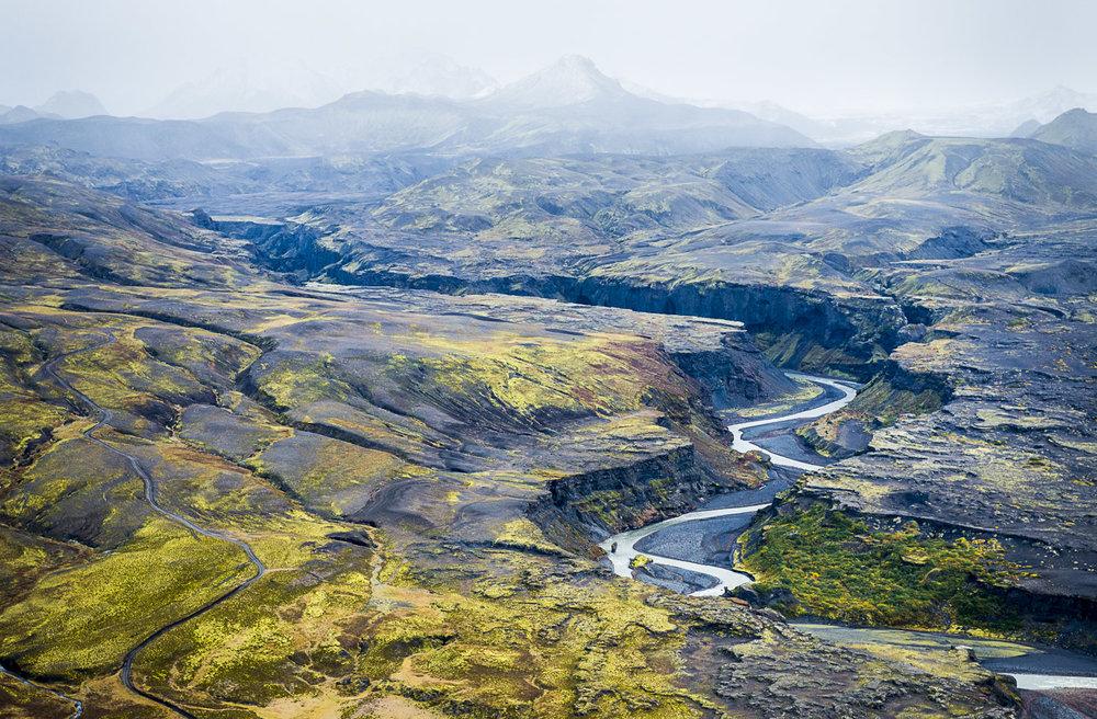 River Canyon, Markarfljot, Iceland, 2012