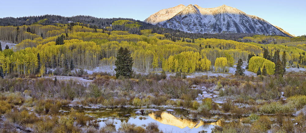 First Light (Pano), Kebler Pass, CO, 2007
