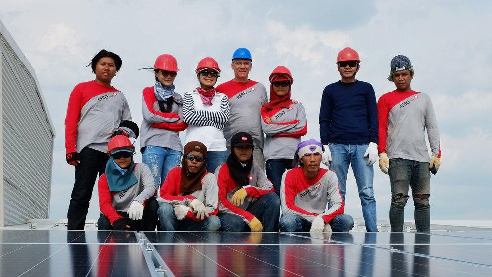 Aero Solar System Installations Team