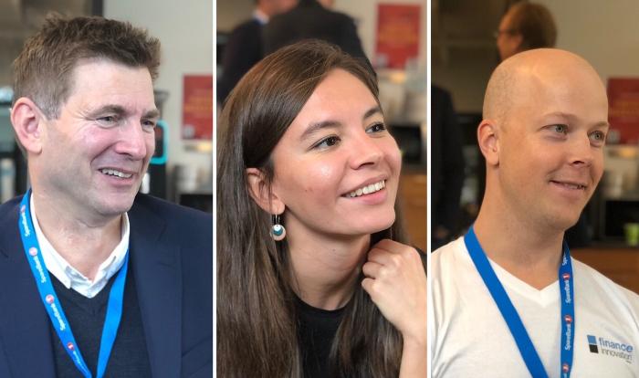 From left: Knut Eilif Halgunset - SpareBank 1 SMN, Negina Mamadova - DNB and Thomas Tjøstheim - Sbanken
