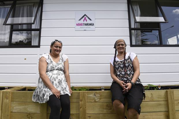 Mihi Dahm, 30s, and Lucy Pearson, 30, both stayed in Whare Tauranga and now have both move into their own rentals.                                                                        Photo/George Novak