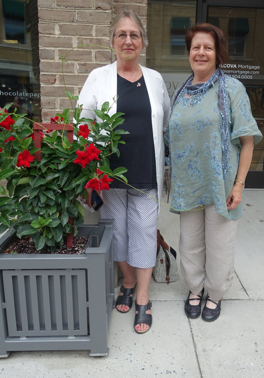 My friend and I in downtown Roanoke, Virginia
