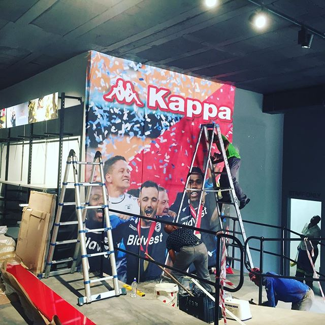#editionsports #kappa wall paper going in