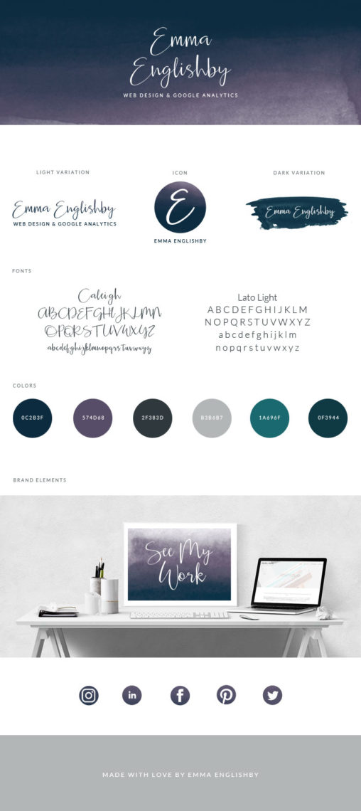 Emma Englishby Brand Style Guide