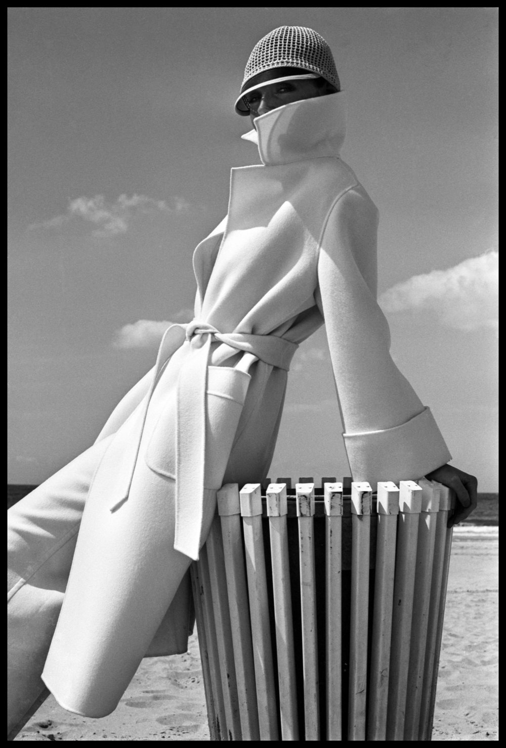 Fashion shoot for French Elle Magazine, South of France, 1975