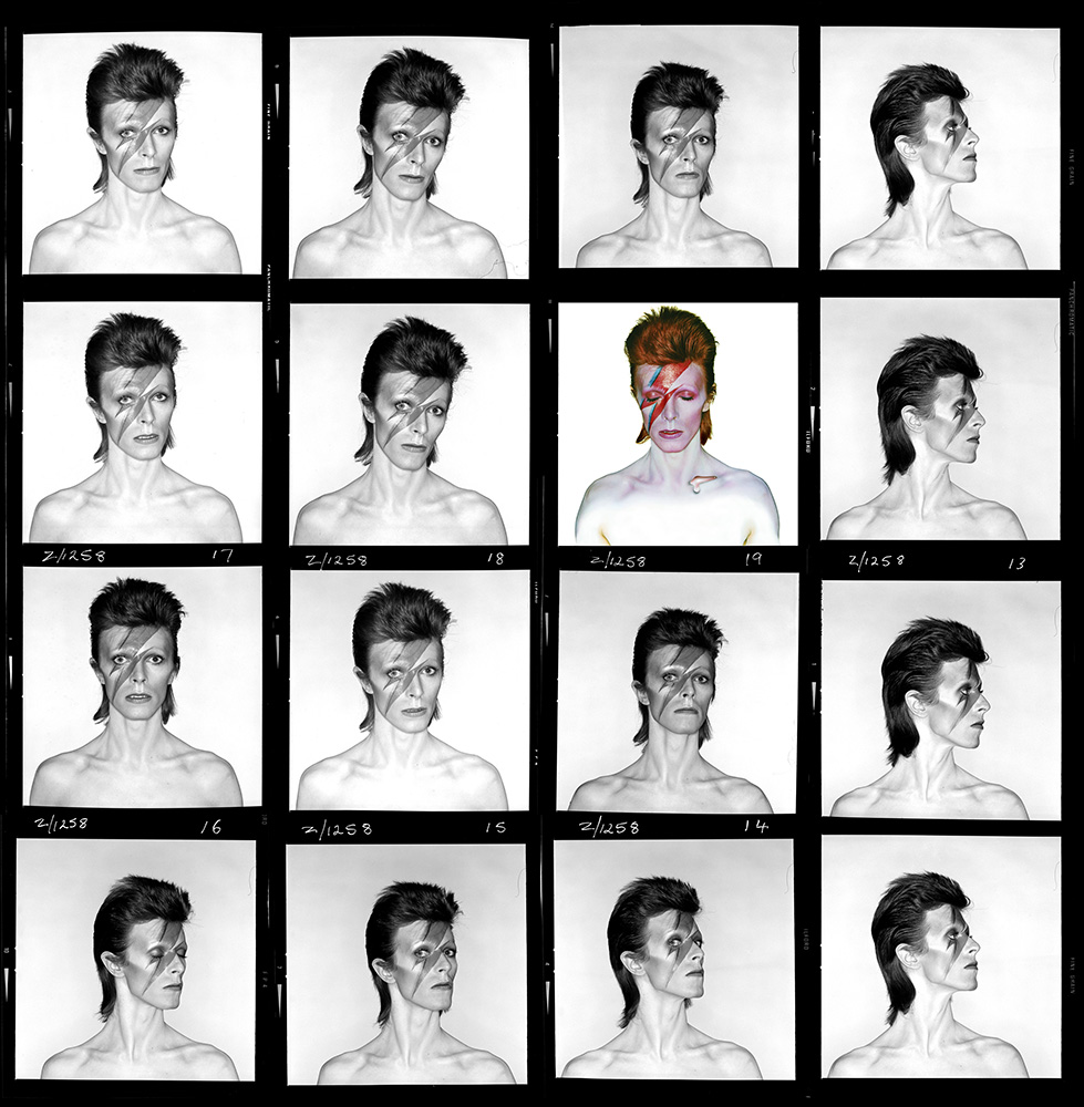 Aladdin Sane Contact Sheet, 1973