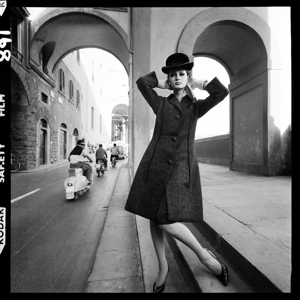 Ponte Vecchio, Fashion Shoot, Florence for Vogue Magazine, 1962