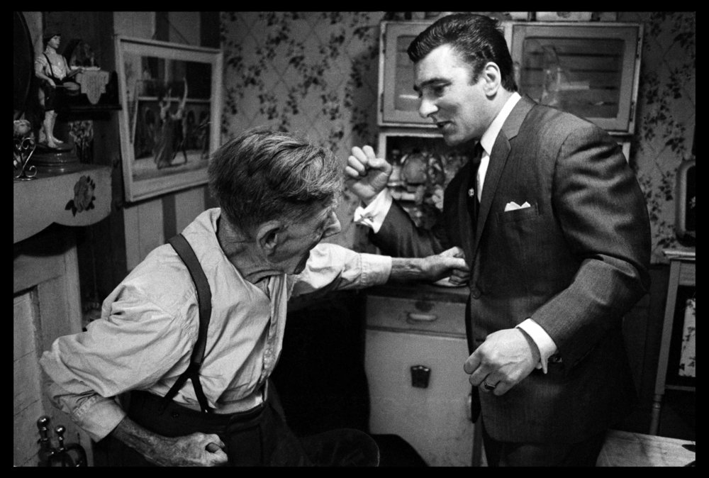 Reggie Kray & his Grandfather, London, 1964