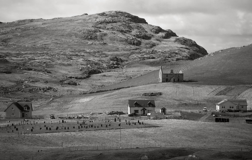 Vatersay graveyard and Ben Rulibreck, 2016 from The Vatersay Series