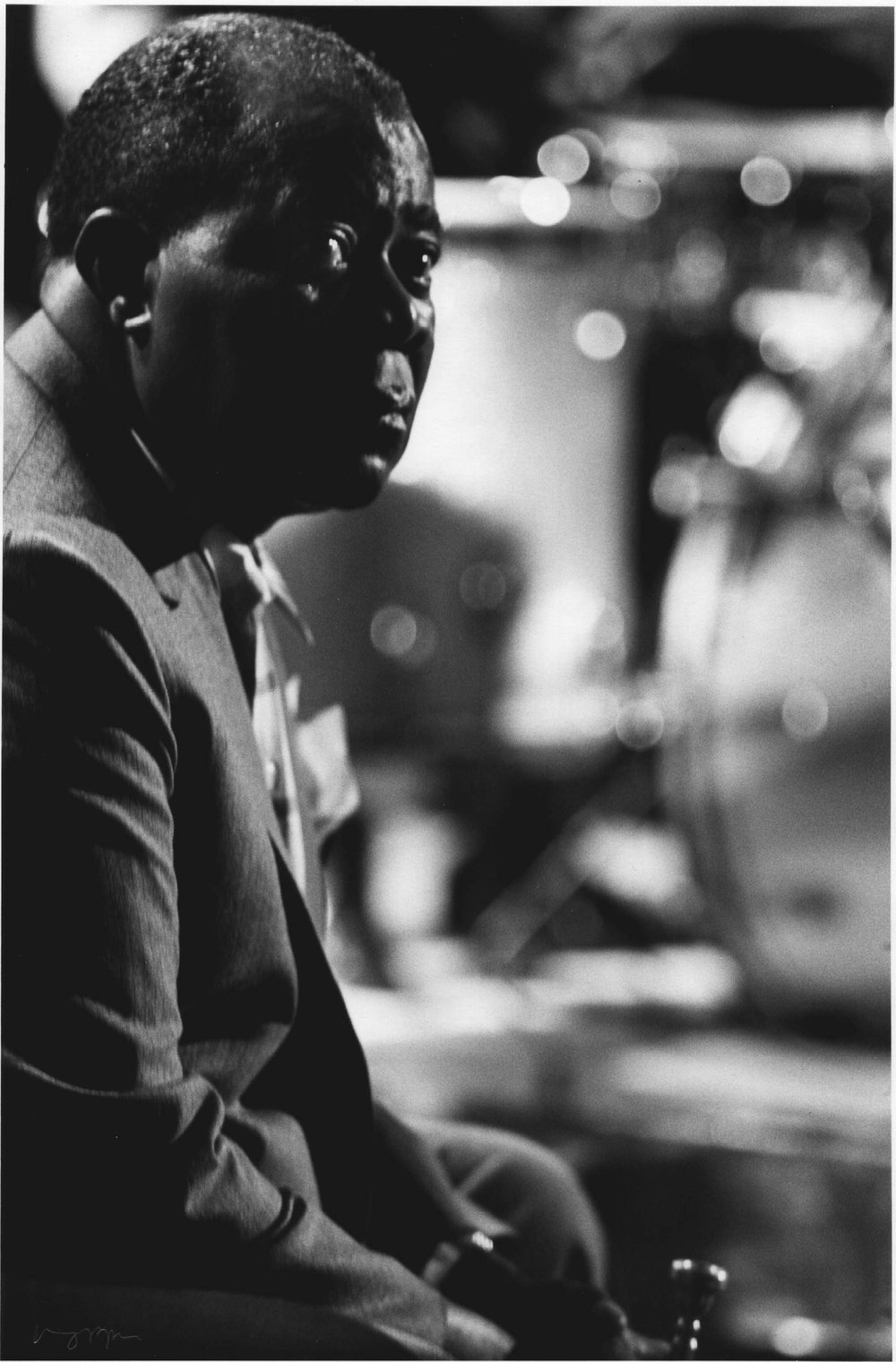 Louis Armstrong, BBC TV Rehearsal, Shepherds Bush Theatre, London, 1965
