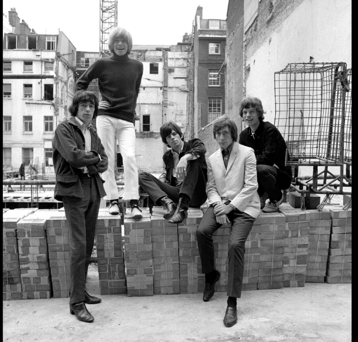The Rolling Stones Caged, Ormond Yard, London, 1965