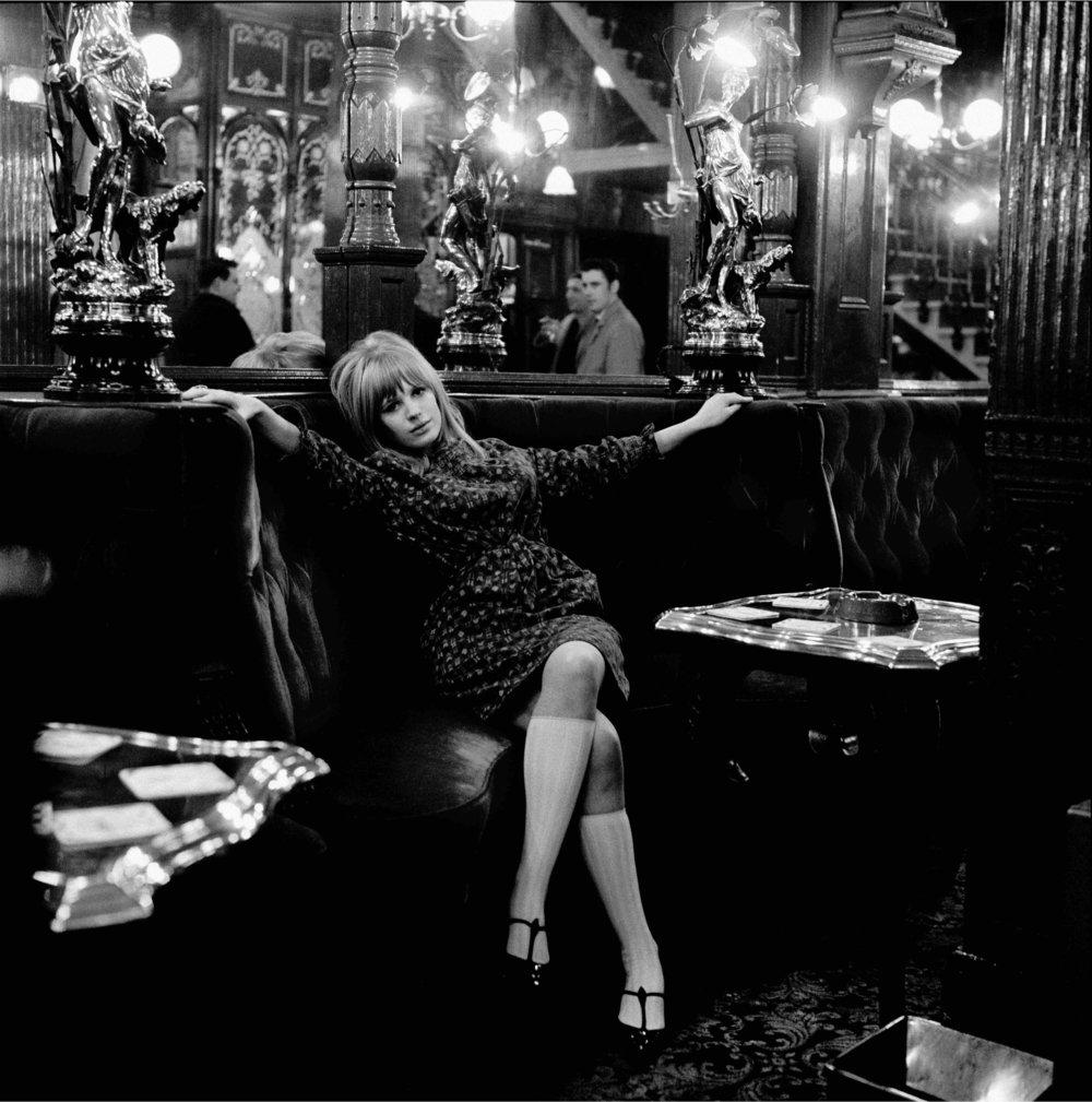 Marianne Faithfull, The Sailsbury Pub, Saint Martin's Lane, London, 1964