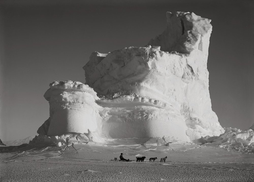 The Castle Berg with Dog Sledge, September 17 1911