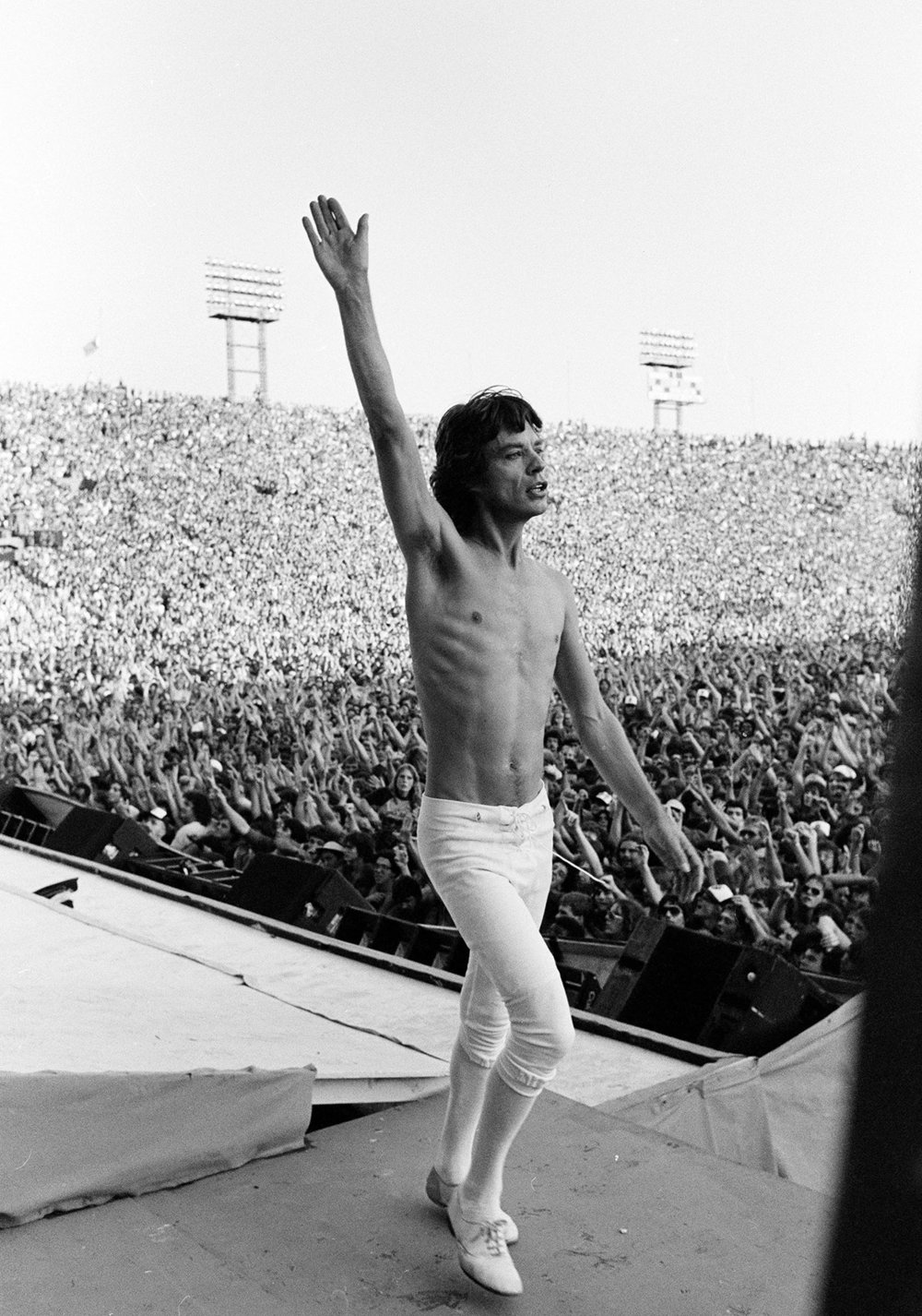 Mick Jagger on Stage, Philadelphia, US Tour, 1981