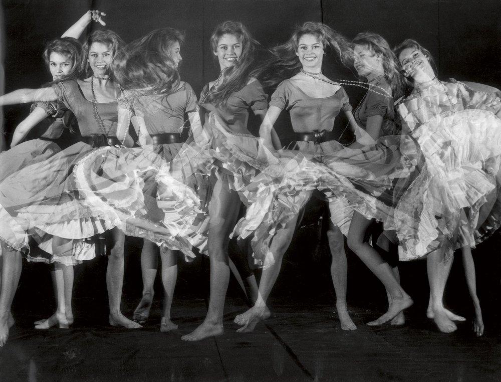 Brigitte Bardot, Le Stroboscope, Paris, 1956
