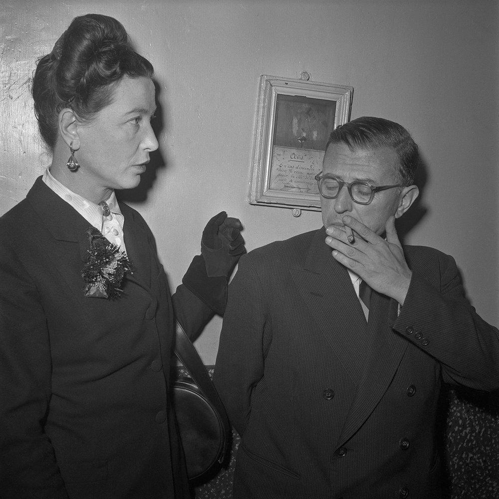 Jean Paul Sartre and Simone de Beauvoir, Paris, 1951
