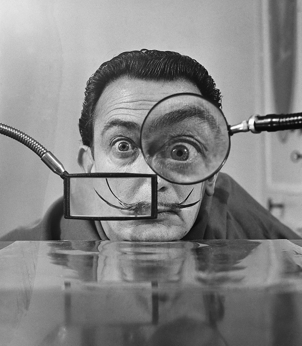 Salvador Dali woth Lenses, Paris, 1949