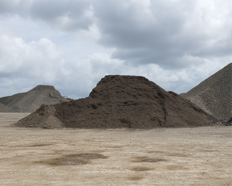 Waste Mounds, La Colette, St Helier, Jersey, c.2013 from the 'Insula' series