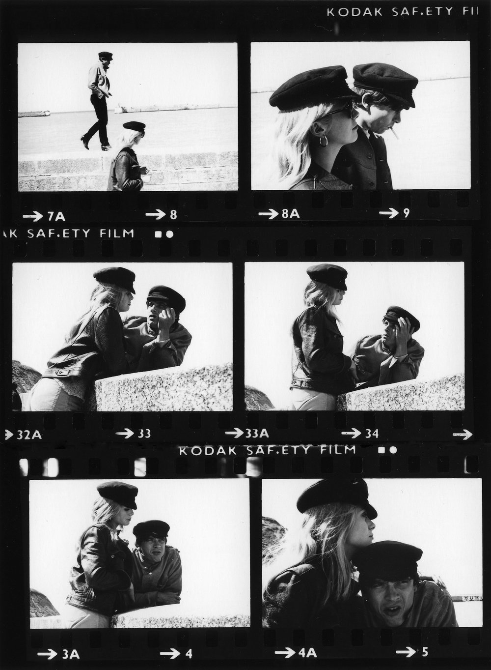 Bailey & Deneuve, Contact Sheet, 1965
