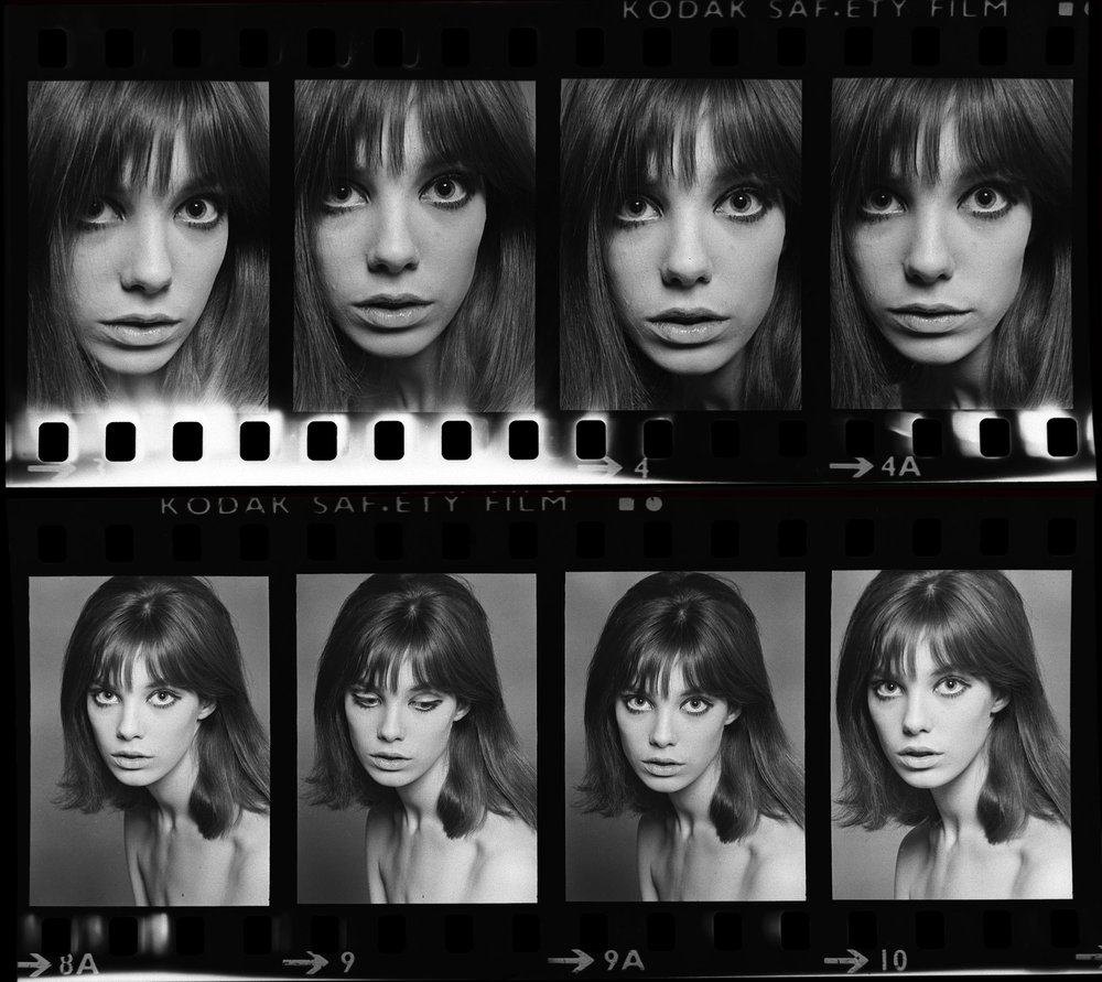 Jane Birkin Contact Sheet, 1965