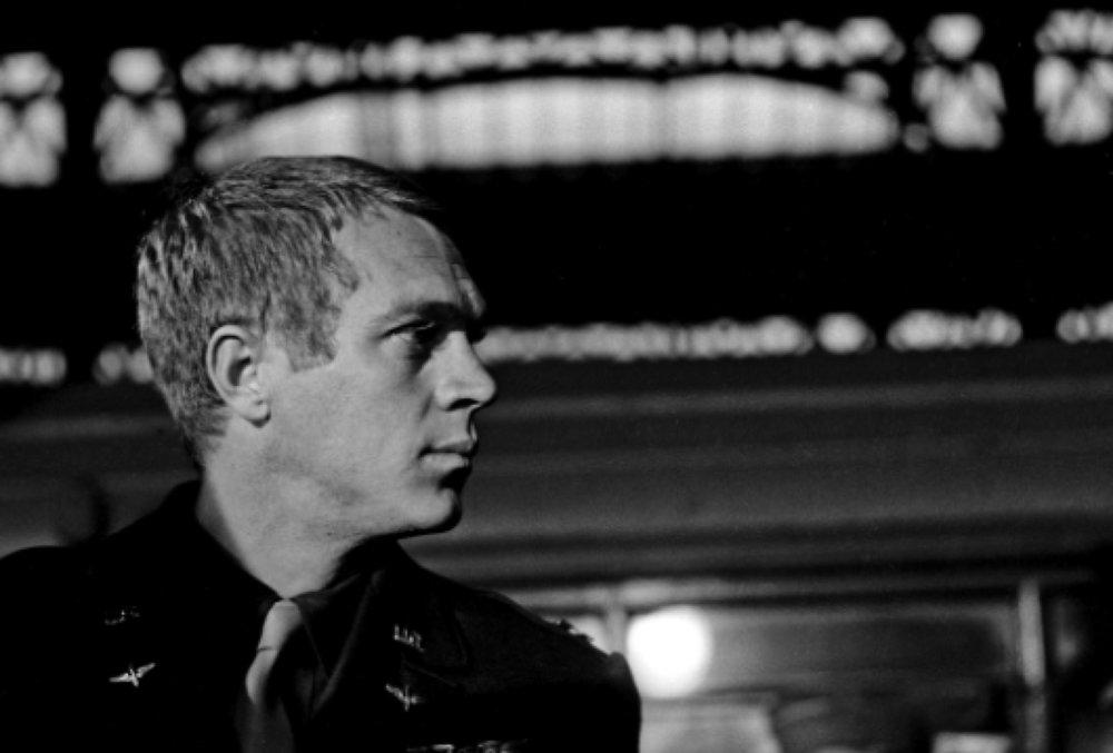 Steve McQueen on the Set of 'The War Lover', 1962