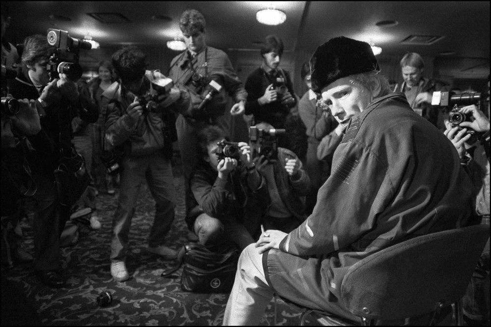 John Lydon at the Royal Lancaster Hotel, London 26 October 1983