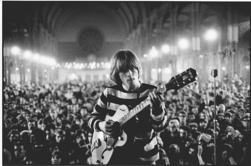 A Concentrated Solo', Brian Jones around 4am, at 'All-Nighter', Alexandra Palace, London, 1964