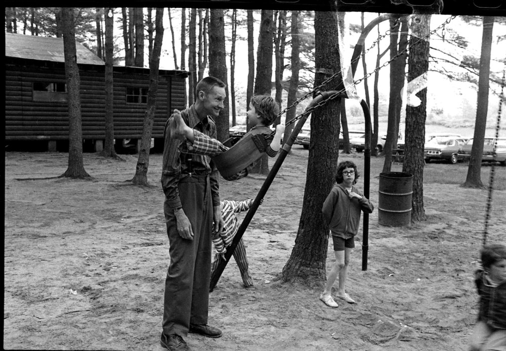 Playground, Lone Star Ranch, Reeds Ferry, NH, 1975 from the 'Honky Tonk' series