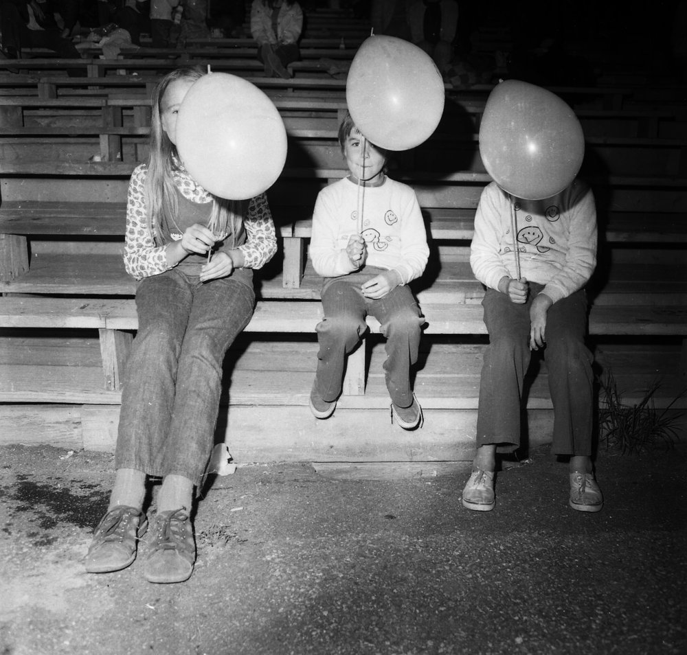 Fans with Balloons, Thomson Speedway, Thomson, CT, 1972 from the 'Speedway' series