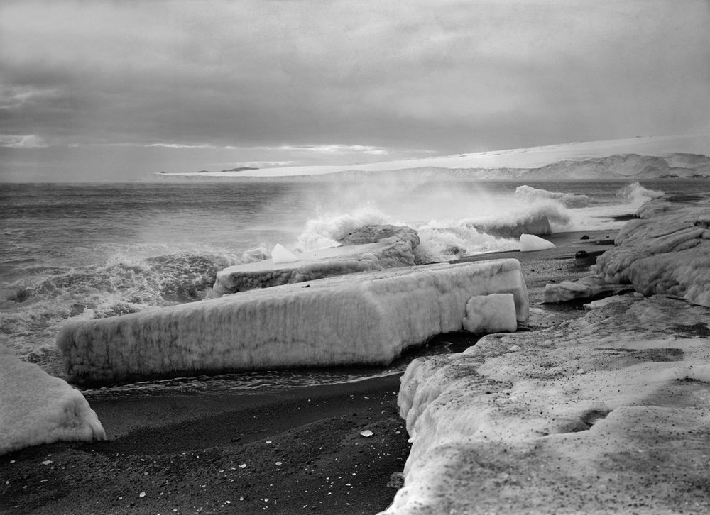 Wave breaking at West Beach, February 28th 1911