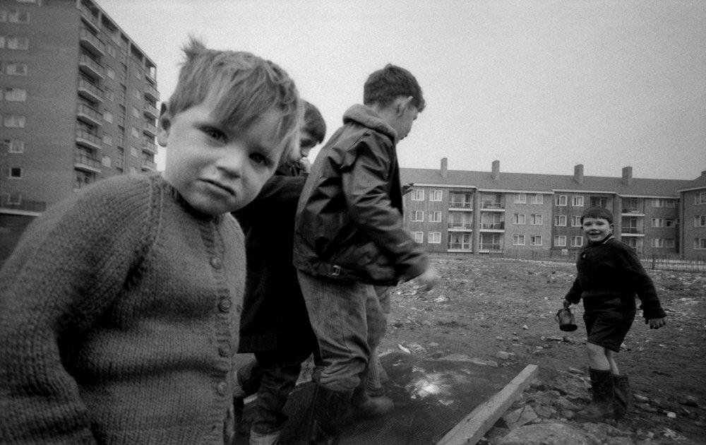 Boy in Cardie, Harrow Road, London, 1962