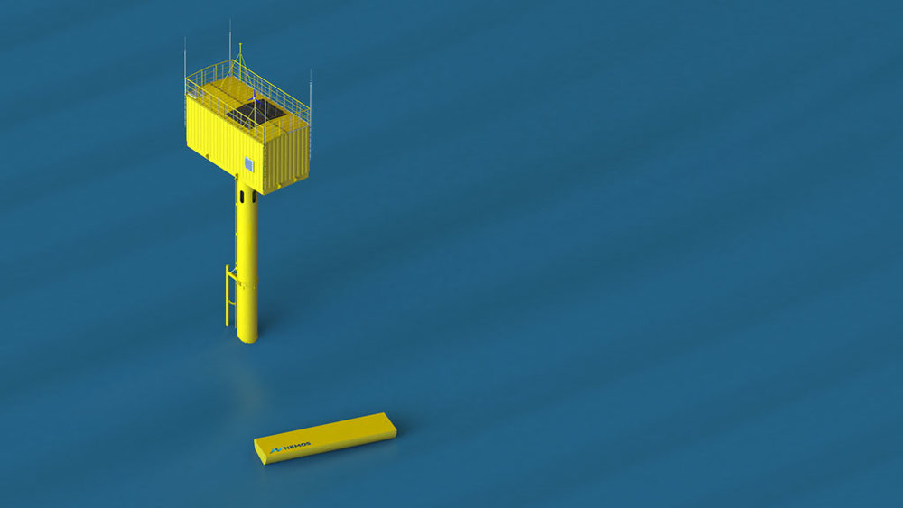 - After an investigative procedure lasting several months, which included a public hearing and numerous detailed examinations, the Belgian authorities have permitted the installation of the test-device in the North Sea close to Ostend. The permission includes the construction of the wave energy converter with its tower structure as well as the license to execute the planned research activities for a duration of three years.