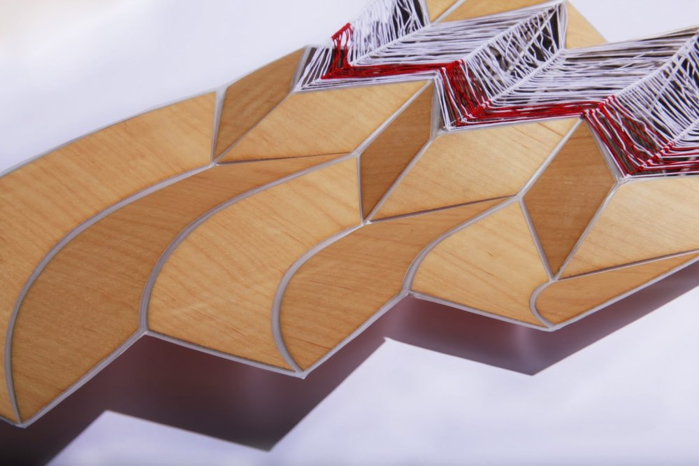 Folded Wooden Wall Piece