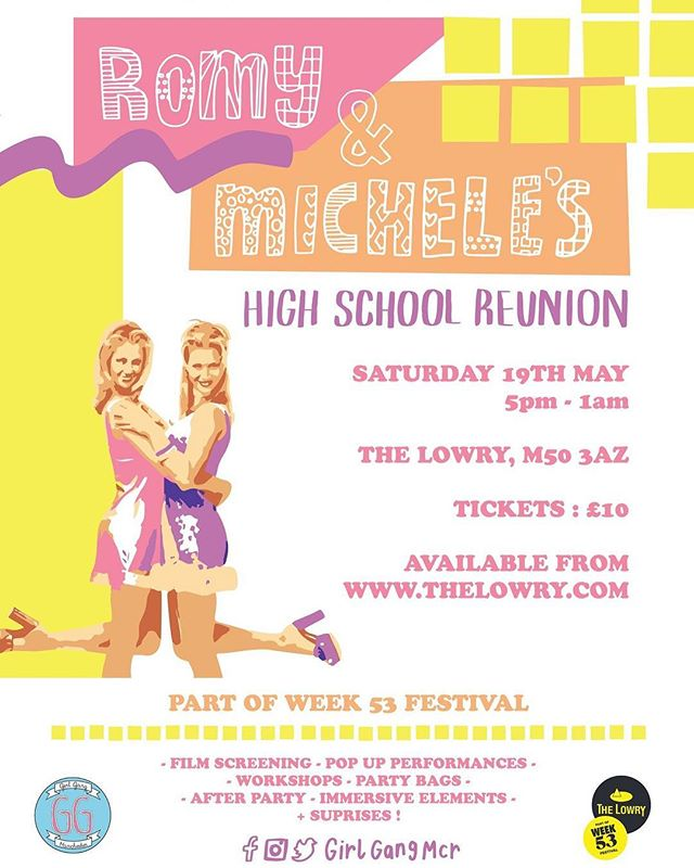 On Saturday I'll be running a scrunchie making workshop at @GirlGangMcr's immersive screening of 90's classic, Romy & Michele's High School Reunion. For more info and event tickets head over to their  Facebook page now! . #GirlGang #Scrunchies #GirlGangMCR #TheLowry #Manchester #RomyAndMichele #RomyAndMichelesHighSchoolReunion #CraftWorkshop