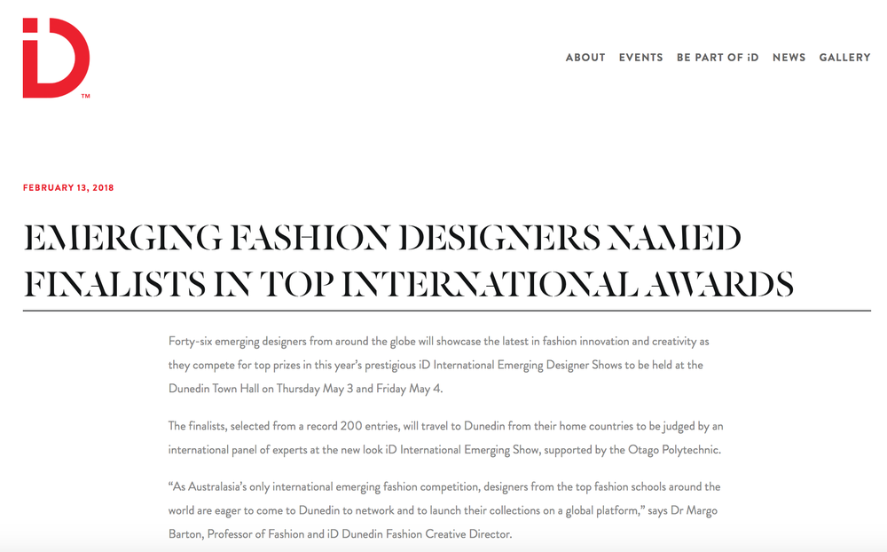 ID International Emerging Designer Awards