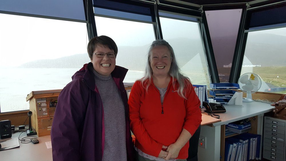 Sarah and Eileen in charge of Control Tower!!