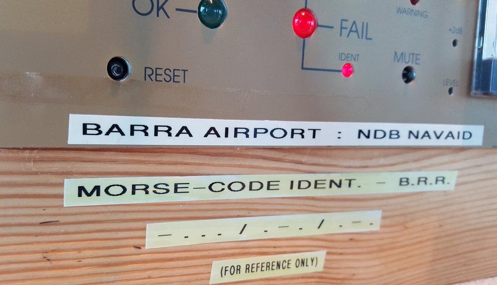 Barra airport - Morse Code