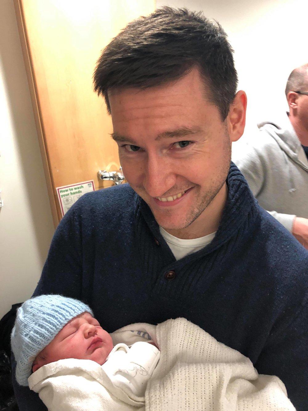 My nephew uncle Gordon, and my great nephew Avery xxx
