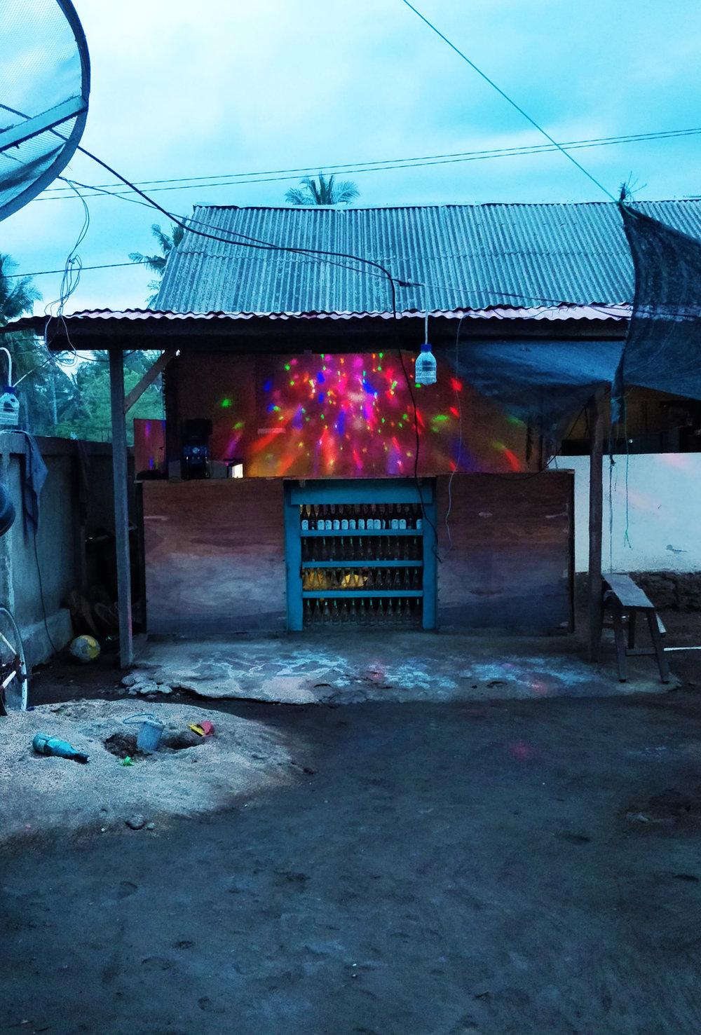 "An example of a local bar or ""warung"" on Gili Meno."
