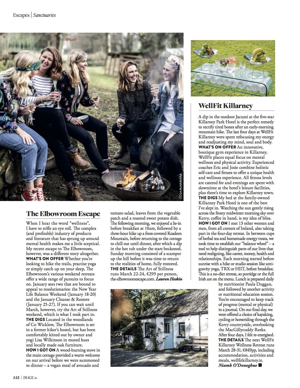 Health feature featuring WellFit Killarney in the Jan/Feb issue of IMAGE Magazine, 2018