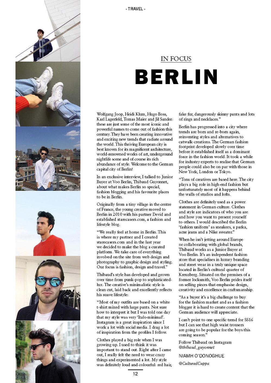 Berlin focus, MFI Magazine, 2015