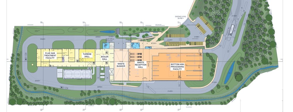 energy from waste facility planning drawing