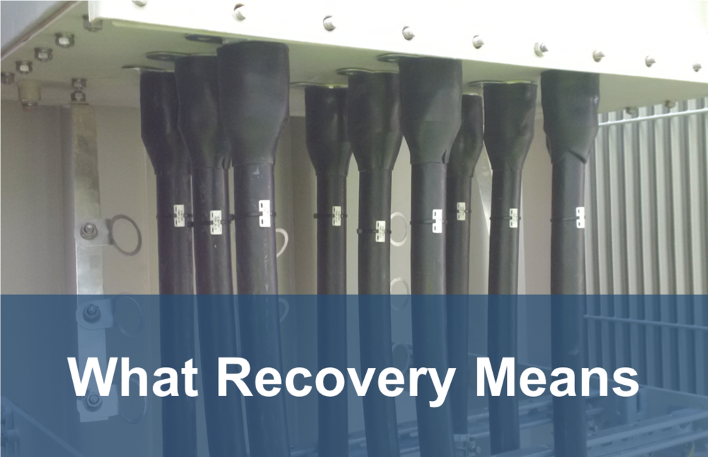 what recovery means button