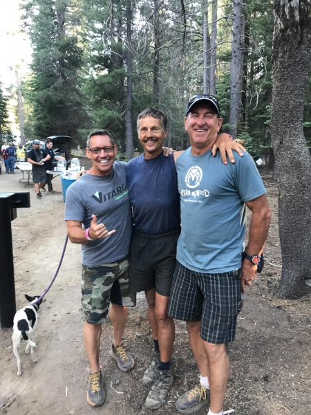 From left to right: Gobi Desert Cup Team USA members, Bob Gauthier, Christoph Schork, and Allan Horn at Tevis. Not shown, team member Jeff Stuart.
