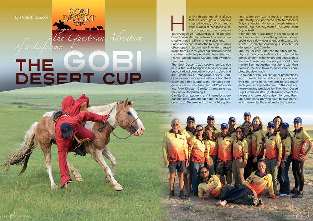 The Gobi Desert Cup: The Equestrian Adventure of a Lifetime - Sportendurance Evo, September 2018