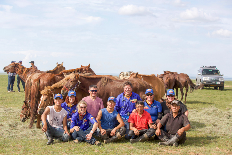 Gobi Desert Cup Officials with Mongolian Herdsmen and Vets.