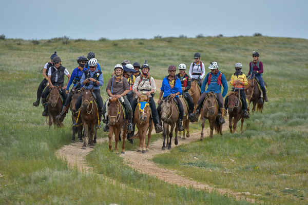 In 2018 we had 18 riders from seven countries race across the steppe on Mongolian horses.