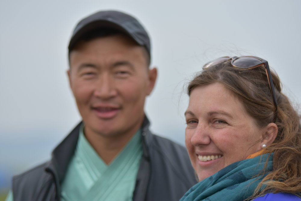 Naranbaatar Adiya and Camille Champagne, Co-Founders of The Gobi Desert Cup.