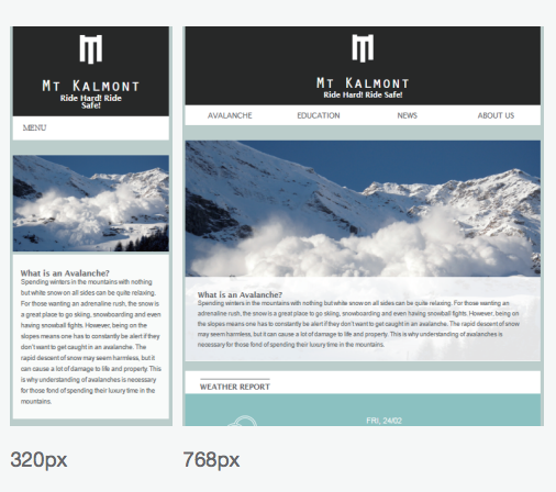 MT KALMONT FRONTEND DEVELOPMENT   Responsive Web Development